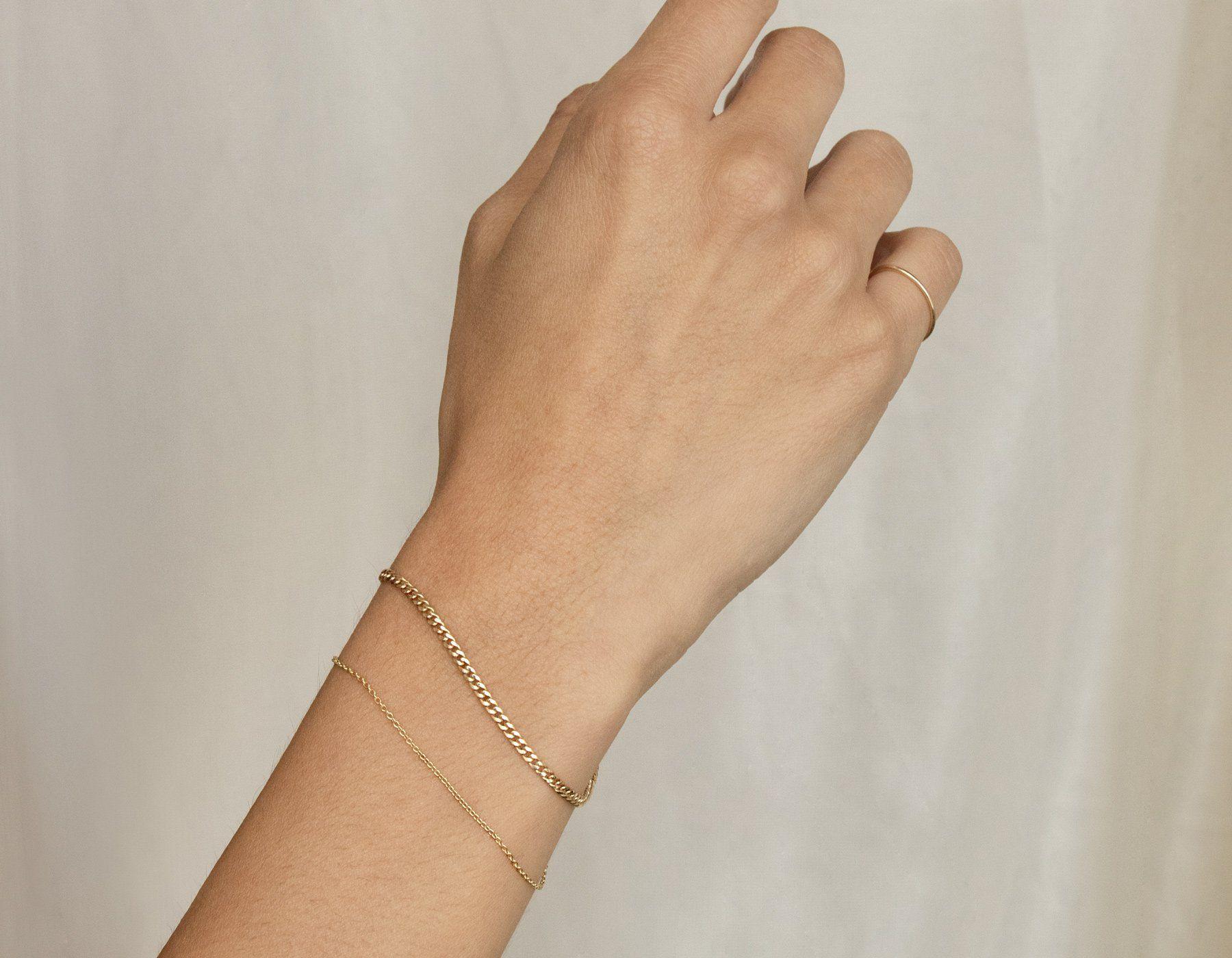 6mm Tiny Heart Bracelet Beautiful Heart Bracelet Plain Heart Bracelet Minimlist Bracelet 14K Gold Bracelet Love Heart Chain Bracelet