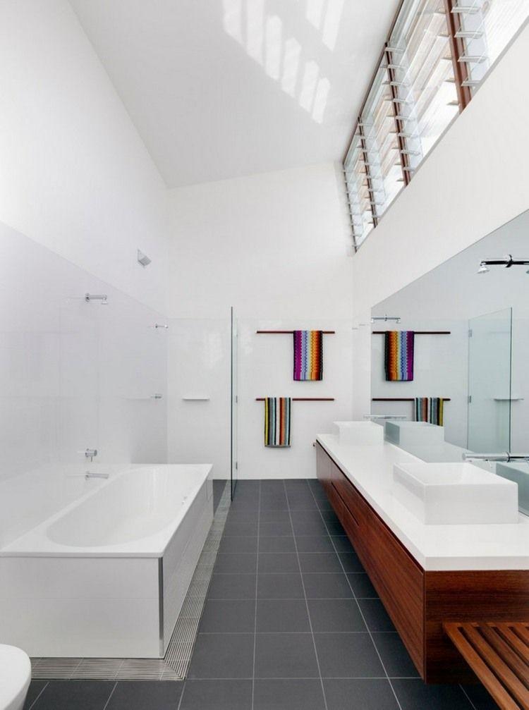 La salle de bain décoration minimaliste moderne en 25 idées | Woods