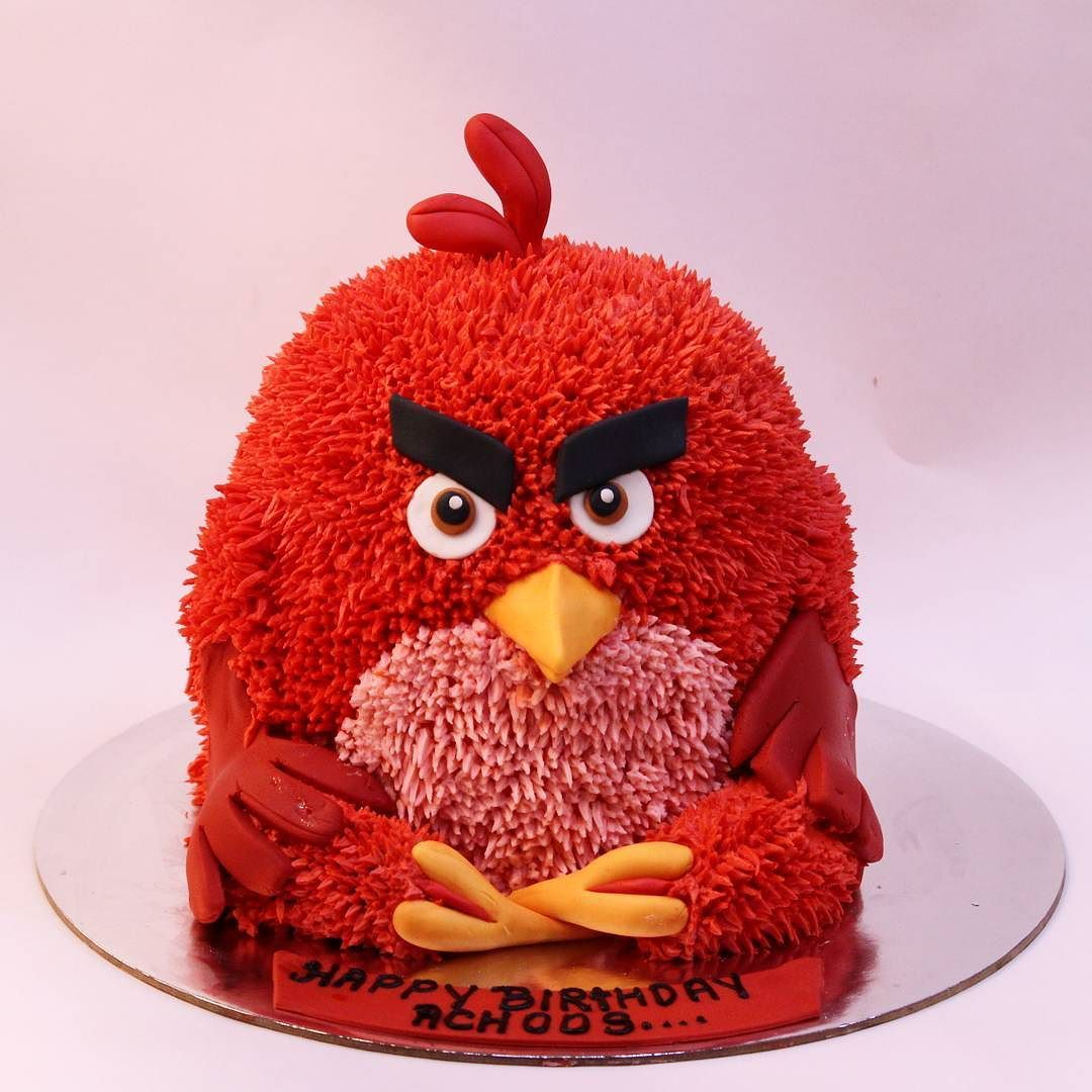 Presenting The Angry Bird Cake But On A Very Happy Birthday