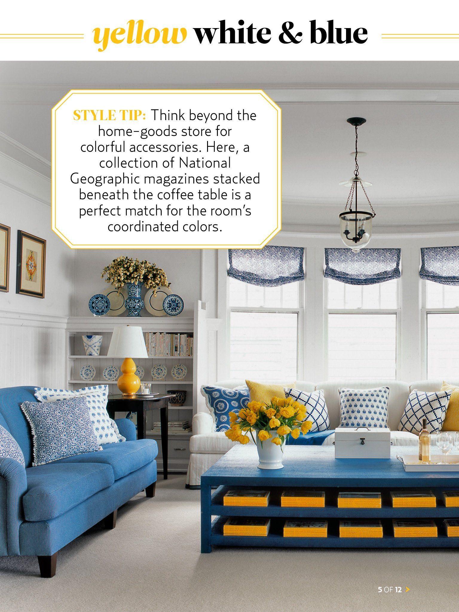 White And Blue Living Room Designer Tom Stringer Calls The