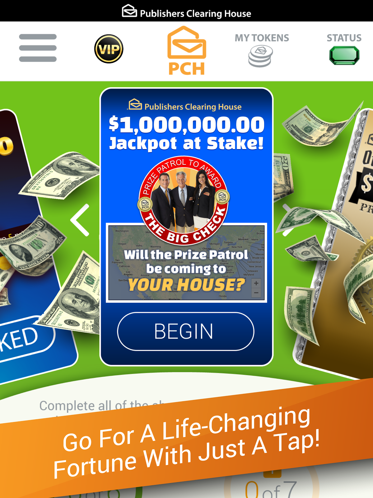 Screenshot Image Win for life, Instant win sweepstakes