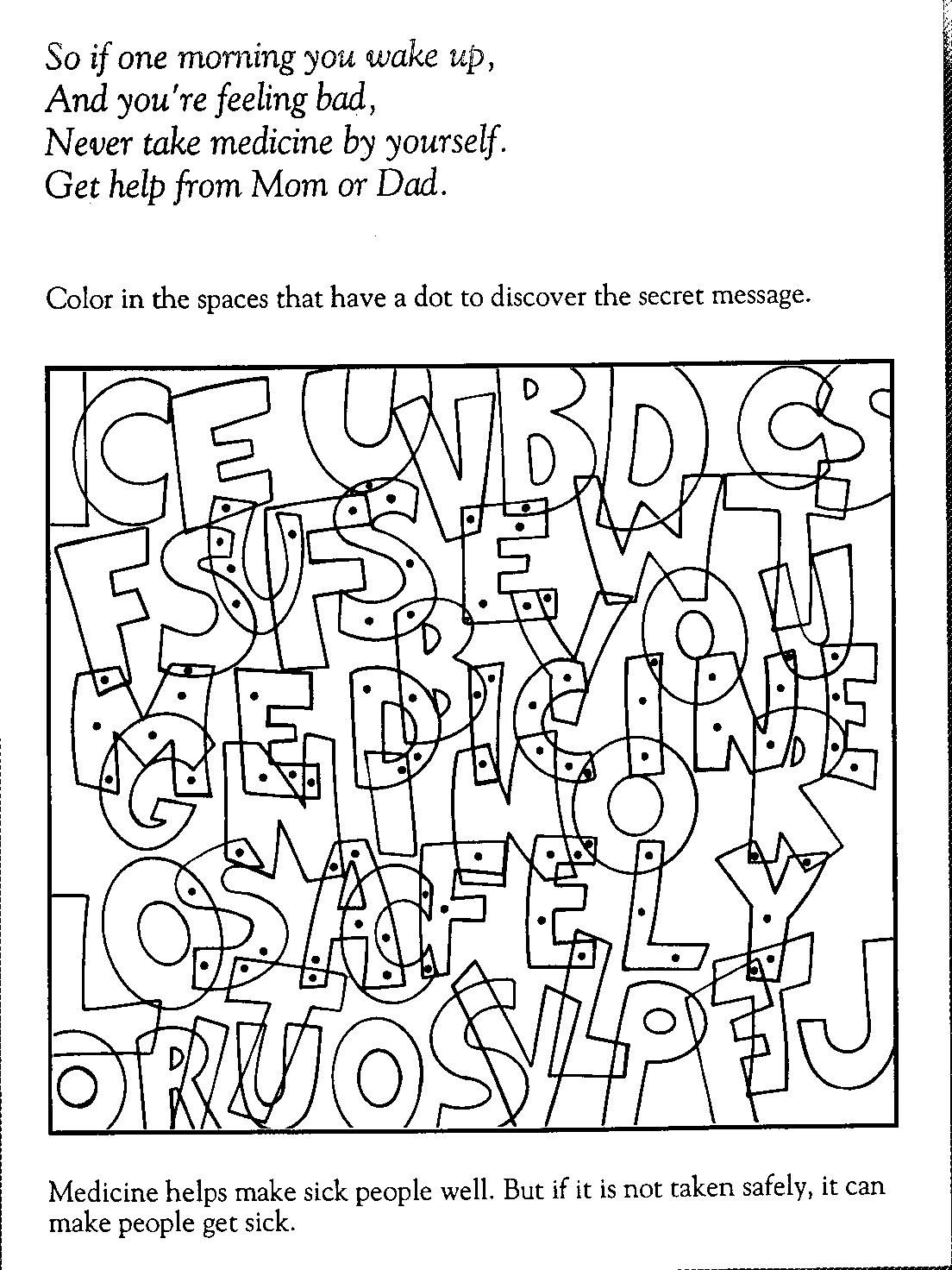 Red Ribbon Week Coloring Pages free 03  Red Ribbon Week