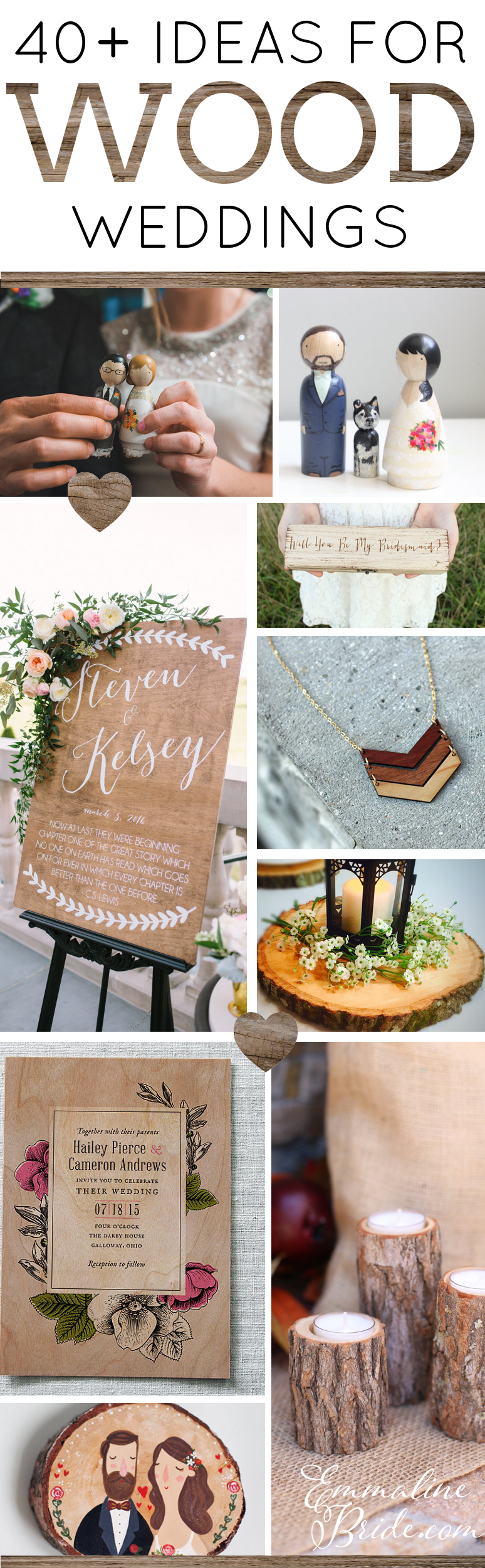 creative wood themed wedding ideas diy wedding pinterest