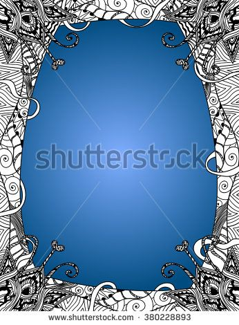 Vector Artistic Background Illustration with a Blue Gradient and