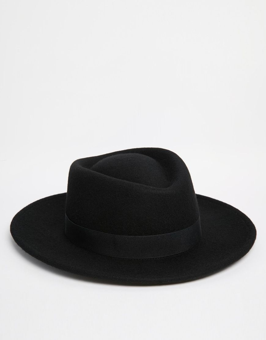49c4523717e ... where can i buy asos pork pie hat in black with diamond crown 39f86  487d7