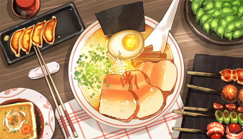 Deluxe Ramen Food, Food illustrations, Food and drink