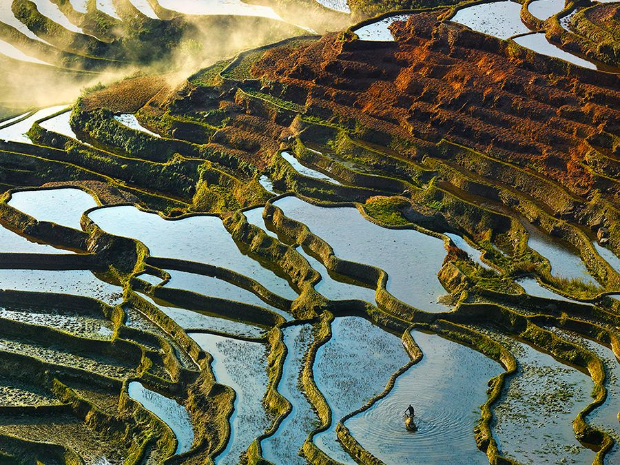 These breathtaking images of 1,000-year-old rice paddies may look Photoshopped, but they're not.