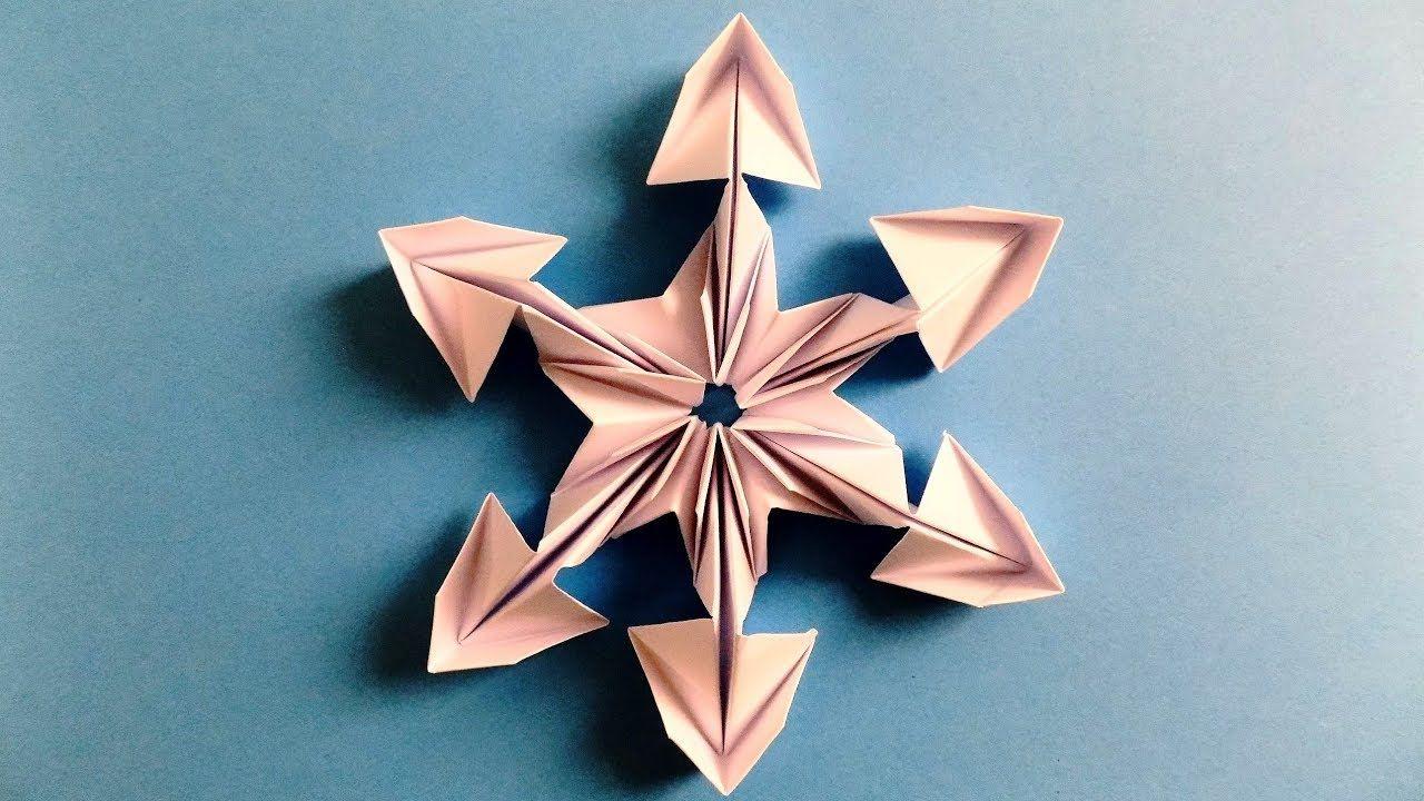 Fiocchi Di Neve Di Carta Tutorial : Come fare un fiocco di neve dalla carta. fiocco di neve di capodanno