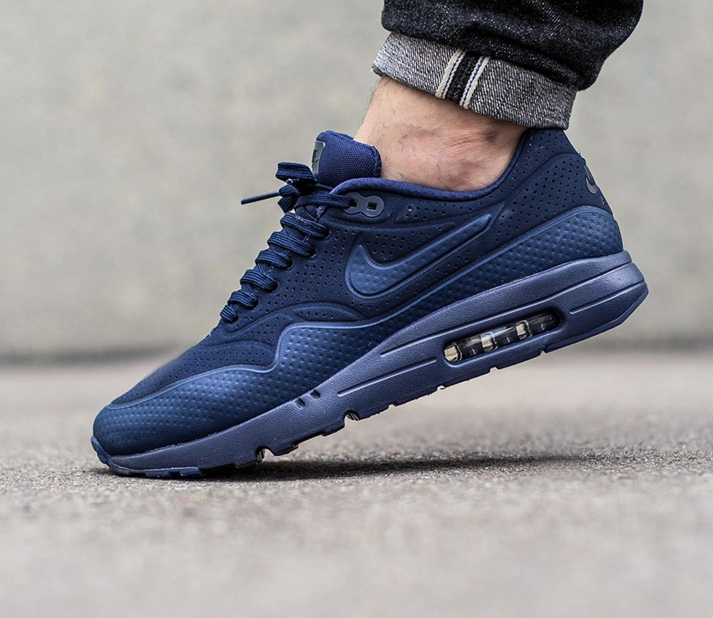 brand new 1ed9b 6d129 Nike Air Max 1 Ultra Moire - Midnight Navy Midnight Navy-Black