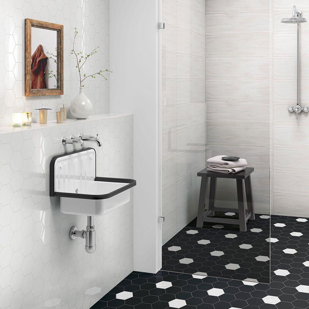hexagon tiles bathroom 2017 | Bathroom | Pinterest | Wet rooms and Room