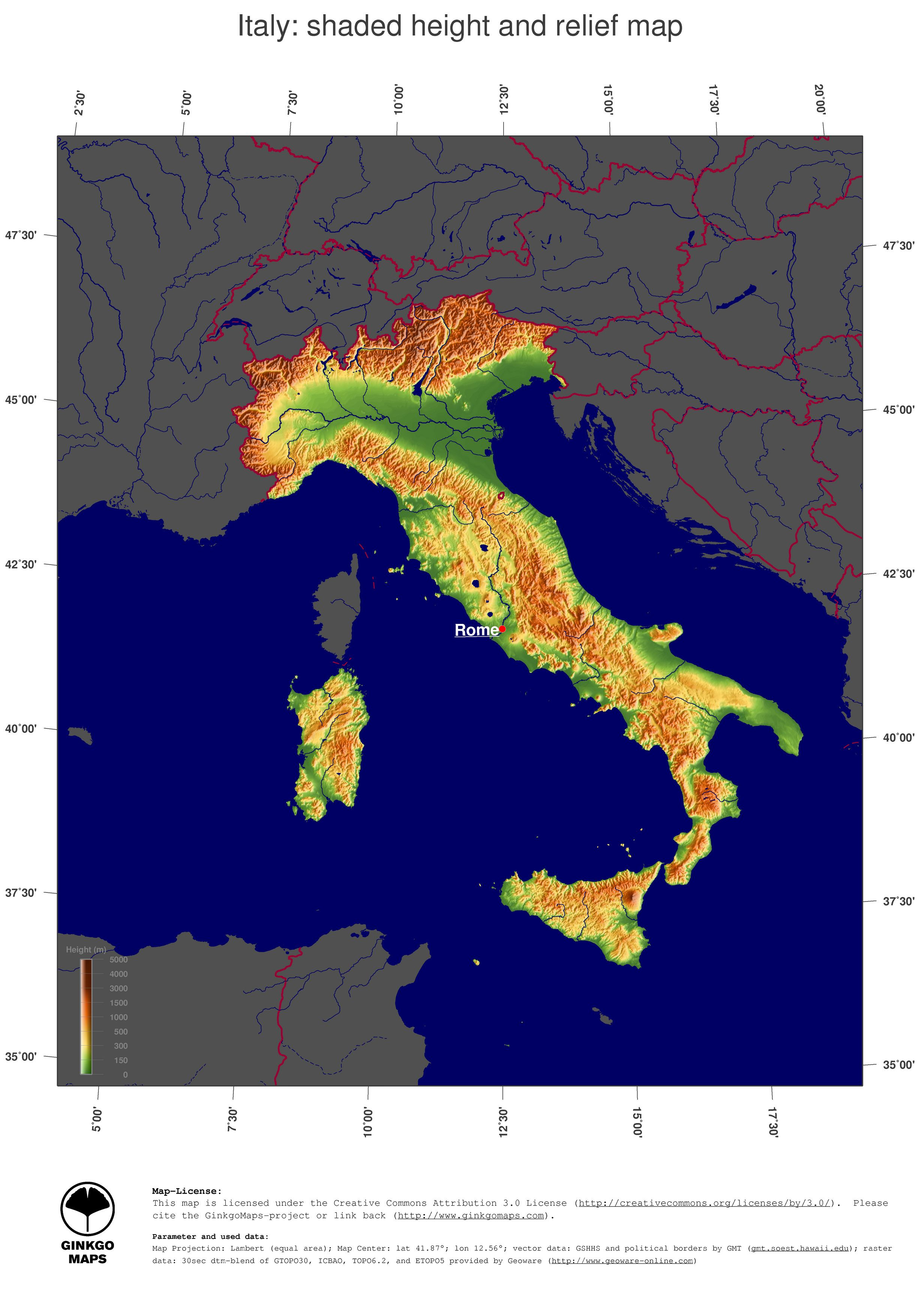Topographic Map Italy.Topographical Map Of Italy Sublime Maps Map Italy Map