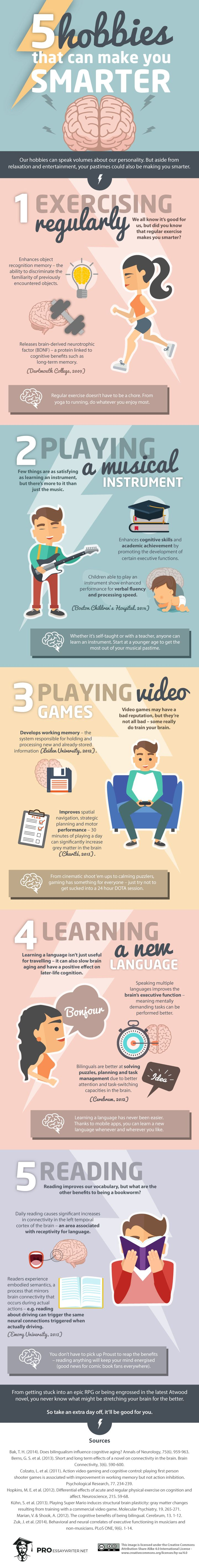 5 Hobbies that Can Make you Smarter #infographic