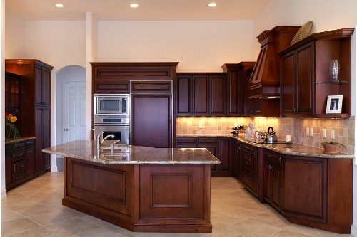 Kitchen triangle shaped island ideas different shaped for Kitchen design triangle