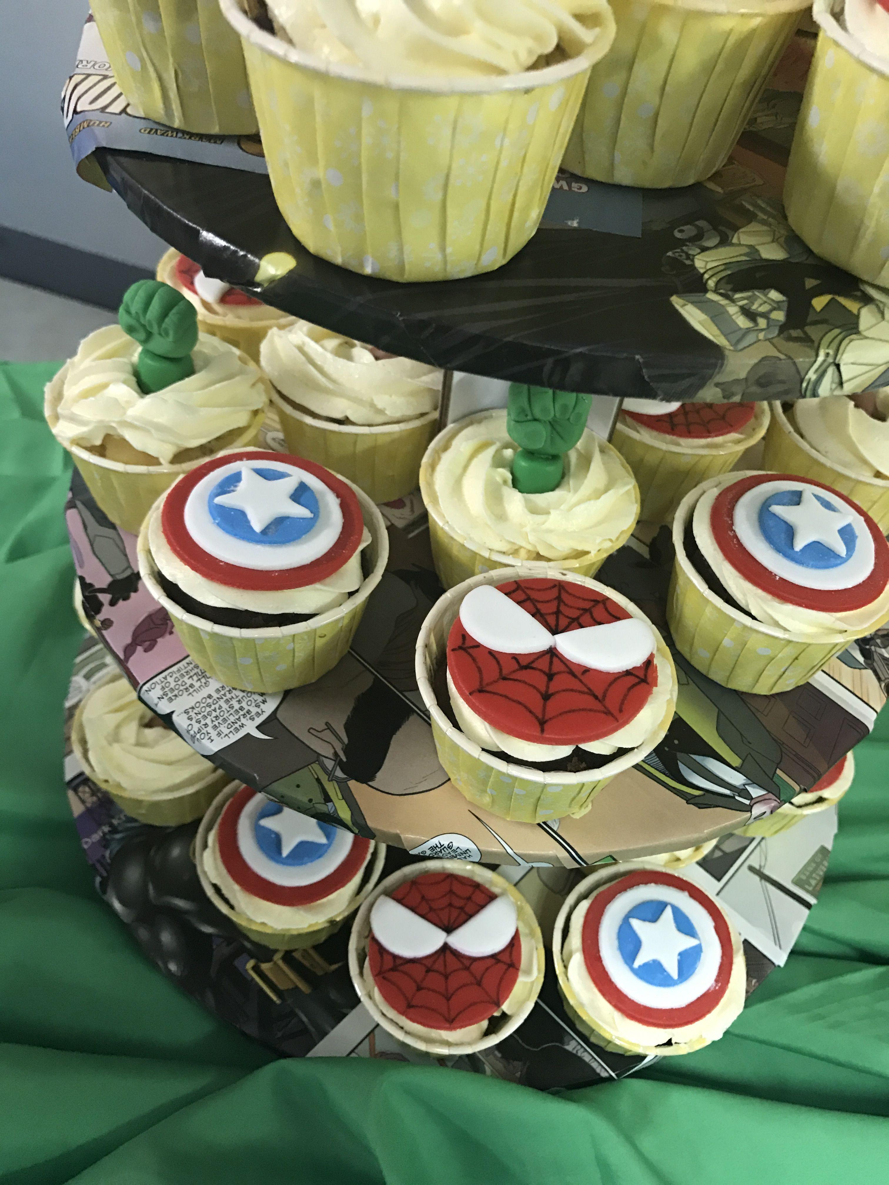 Avengers cupcake captain america spiderman hulk by