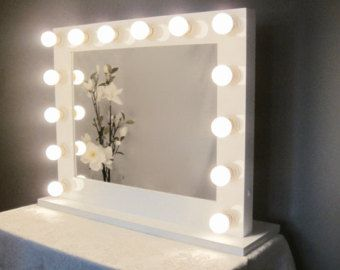 Hollywood Lighted Vanity Mirror Large Makeup By Crafterscalendar