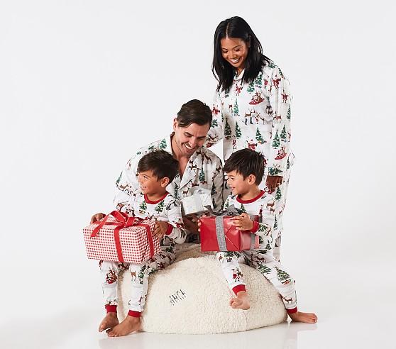 Santa Family Christmas Pajamas Pottery Barn Kids