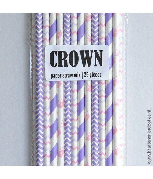 Paper straw mix crown