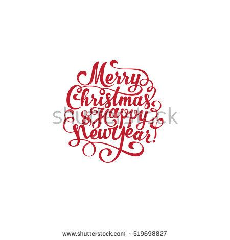 merry christmas and happy new year vector text calligraphic lettering design card creativ happy new year calligraphy happy new year vector christmas lettering pinterest