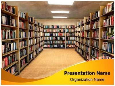 library bookshelf powerpoint template is one of the best, Presentation templates