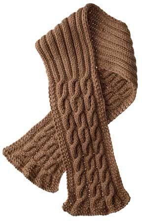 Mens Rib Patterned Scarf Knitting Pattern