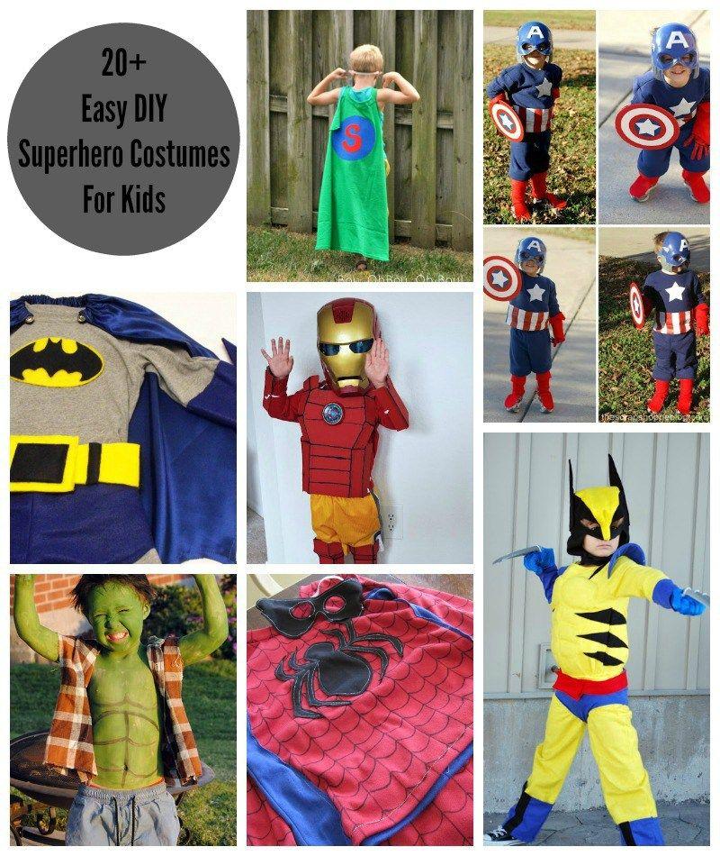 20+ Easy DIY Superhero Halloween Costumes For Kids  sc 1 st  Pinterest & 20+ Easy DIY Superhero Halloween Costumes For Kids | DIY Halloween ...