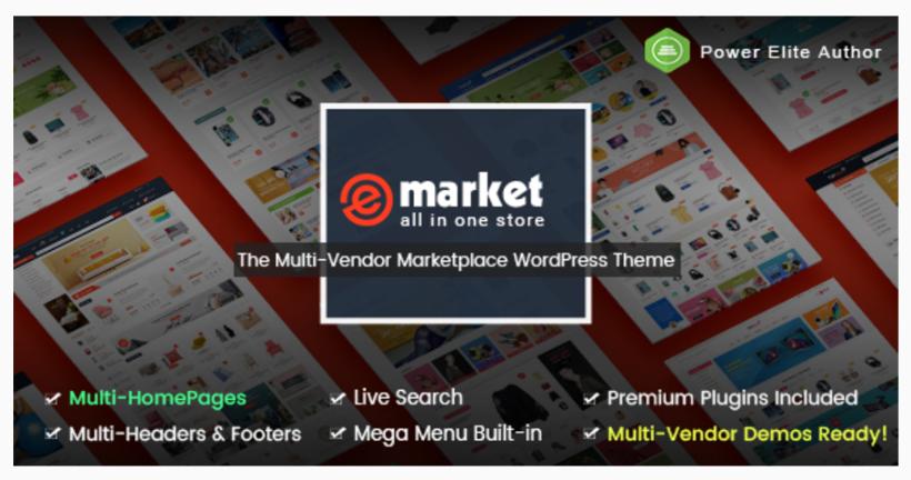 eMarket themeforest free The eCommerce & Multi-purpose MarketPlace ...