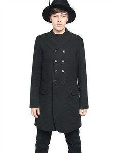 Ann Demeulemeester - Wool/linen Double Breasted Jacket | FashionJug.com