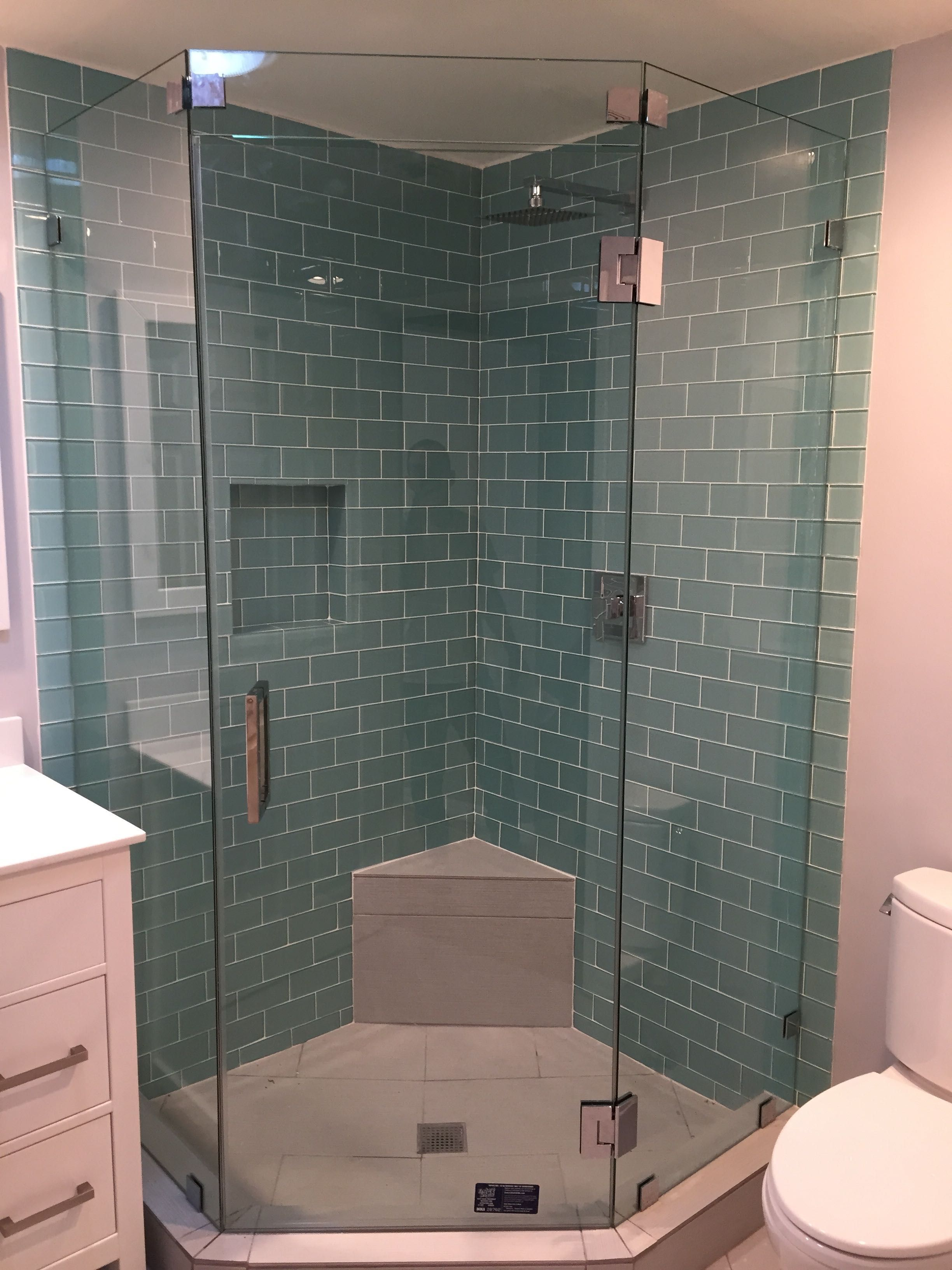 Neo Angle Frameless Shower Door - Y9, Inc.   En suite   Pinterest ...