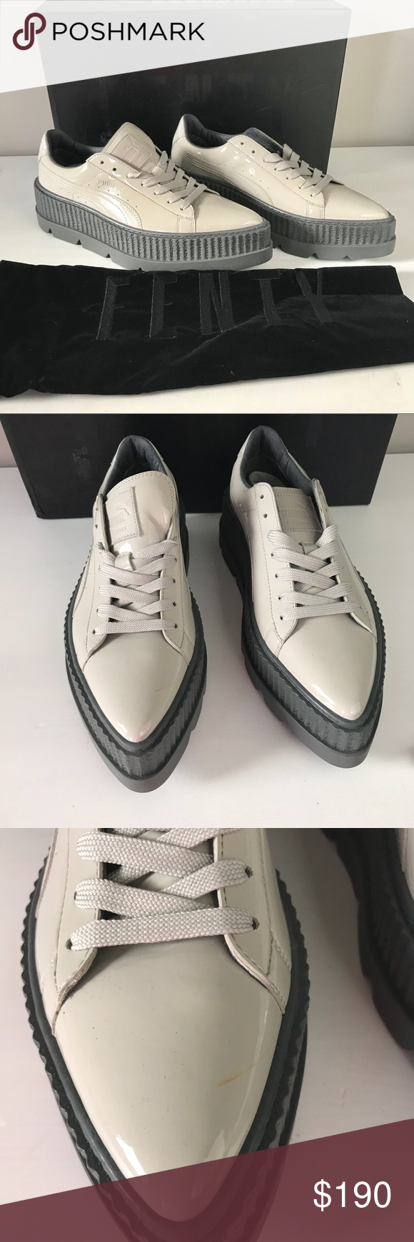 826dfbcd645f Puma NEW Fenty pointy creeper patent Rihanna gray PUMA Fenty x Rihana pointy  creeper platform sneaker in dove glacier gray 366270 02 Modern Pointy  Creeper ...