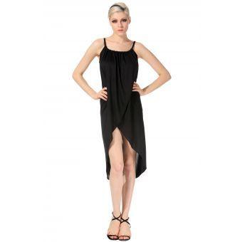 7447f3e44e Compra Vestido Tubo Con Escote De Pico Para Mujer-Negro online ...