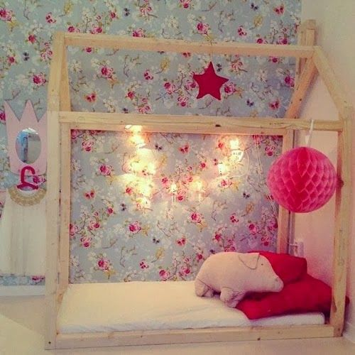 House bed in a beautiful room. #kids #decor  House Shaped  Pinterest  아기방