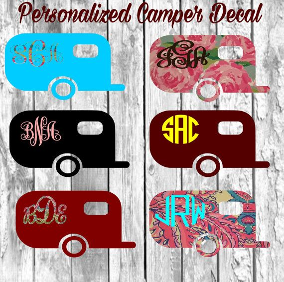 Camper Decal Monogram Decals For Yeti Cups Vinyl Decallily - Vinyl for cup