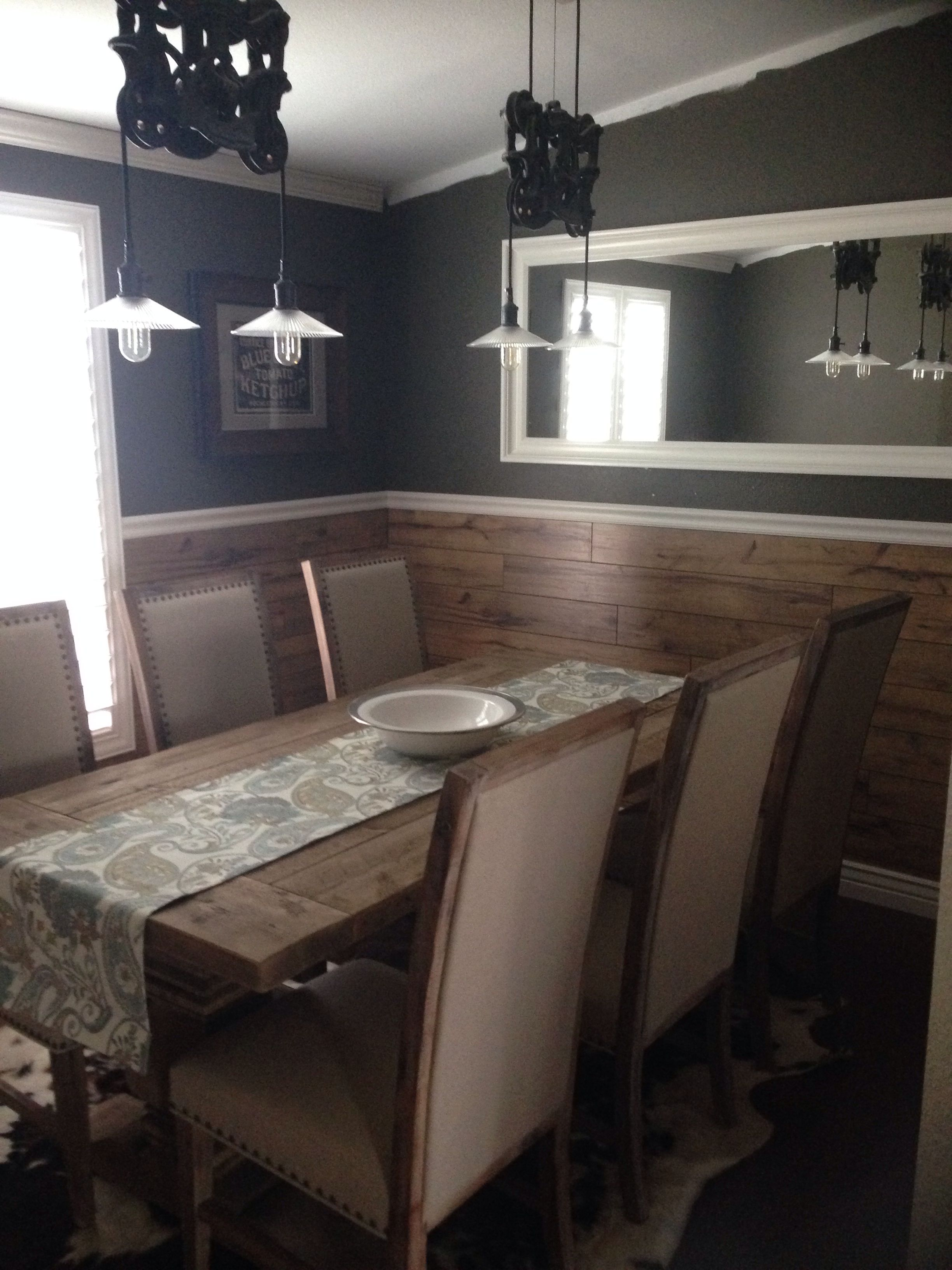 My Restoration Hardware dining room!