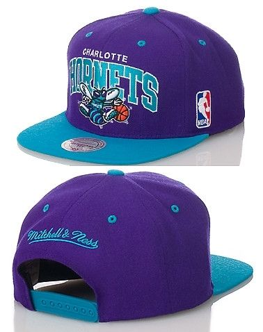 CHARLOTTE HORNETS NBA SNAPBACK CAP - Purple - MITCHELL AND NESS ... 60c9d140e09