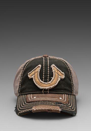 e674f1cf0eeab3 True Religion Vintage Horseshoe Cap in Black | HaTs in 2019 | True ...