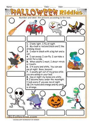 Halloween Riddles | Halloween | Pinterest | Englisch, Englisch ...