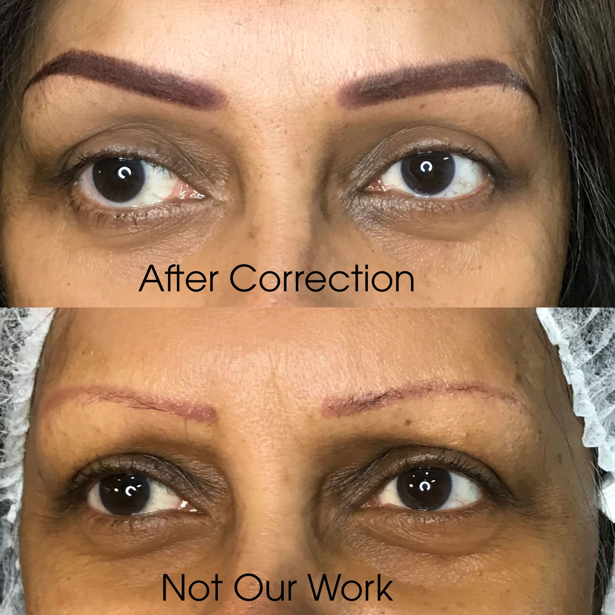 If your old permanent makeup has faded out to a red colour