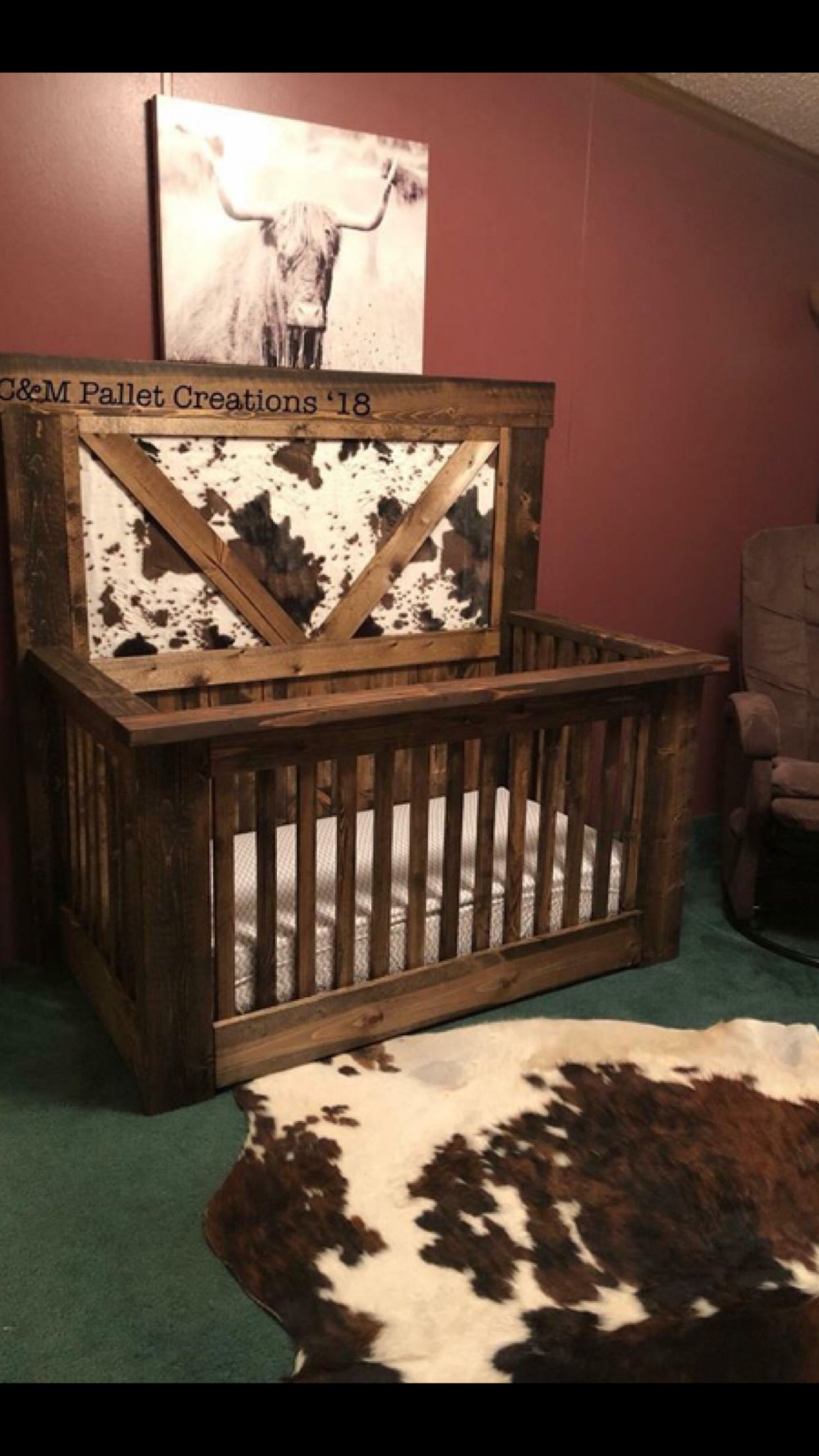 Super Cute Crib Could Be Made Into A Headboard After