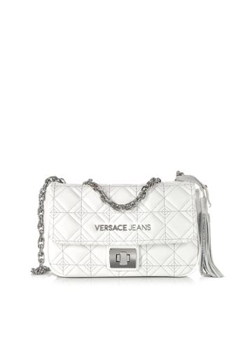 fced4107561e Versace Jeans White Quilted and Embroidered Crossbody Bag  220.00 ...