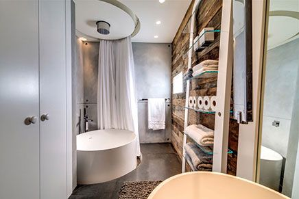 Moderne badkamer in miljoenenhuis - Badkamer, Ideeën en Foto