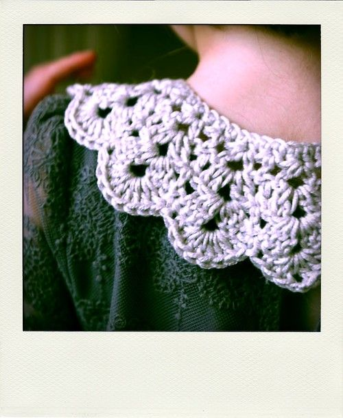 Crochet collar pattern by Lulu Loves via theyarnbirds via http://www ...