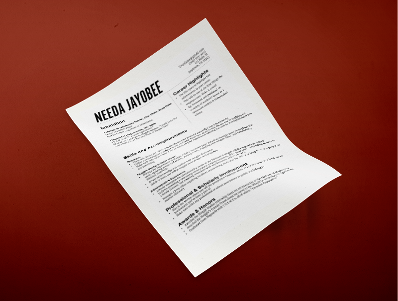 a free functional resume template for free download friday
