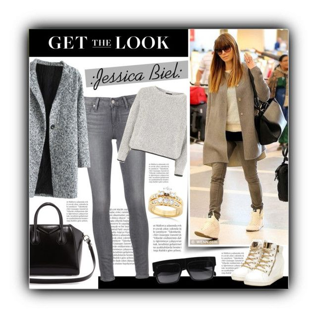 """""""Get the Look: JESS BIEL"""" by tammara-d ❤ liked on Polyvore featuring Givenchy, Balmain, Paige Denim, Topshop and Kobelli"""