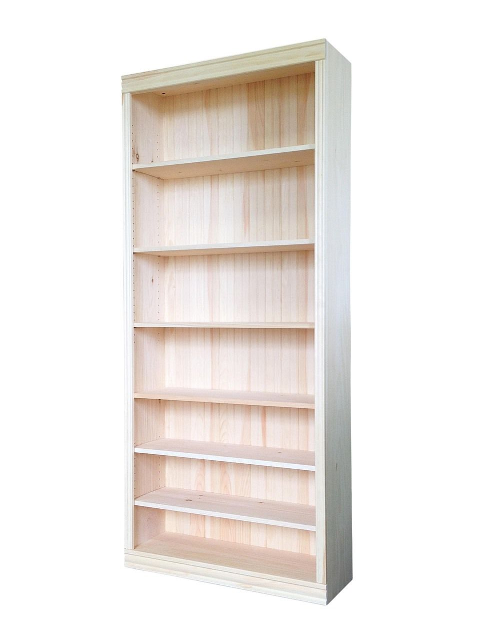 Hancrafted Unfinished Solid Pine Bookcase Measuring X Hundreds Of Standard And Custom Sizes Available