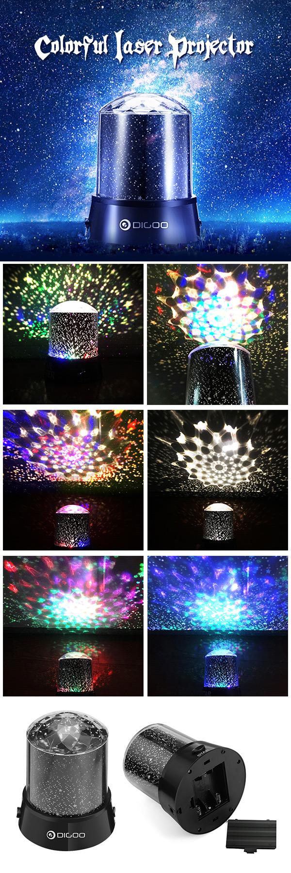 $7.13 Digoo DG SNL Amazing Night Light Kids Lamp Sky Star Cosmos Colorful  Laser Projector
