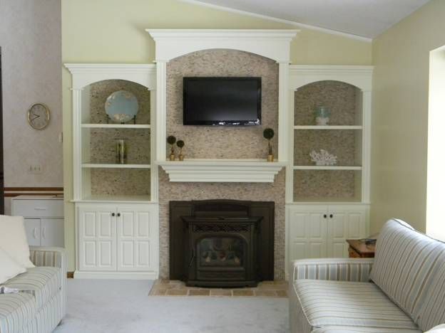 Before+and+after+refacing+fireplace+|+Refacing+Brick+Fireplace+