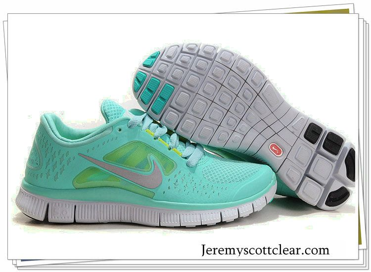 new product 4af36 9e34f Tiffany Blue Nike Free Run 3 5.0 Pure Platinum Reflect Silver Aqua Chrome