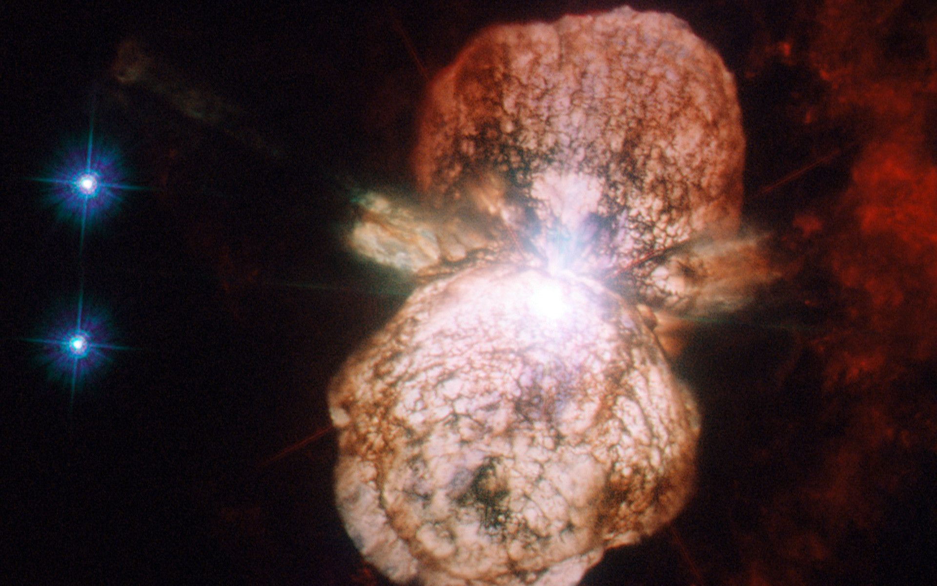 This Is An Actual Photograph Of A Star Going Supernova Taken By