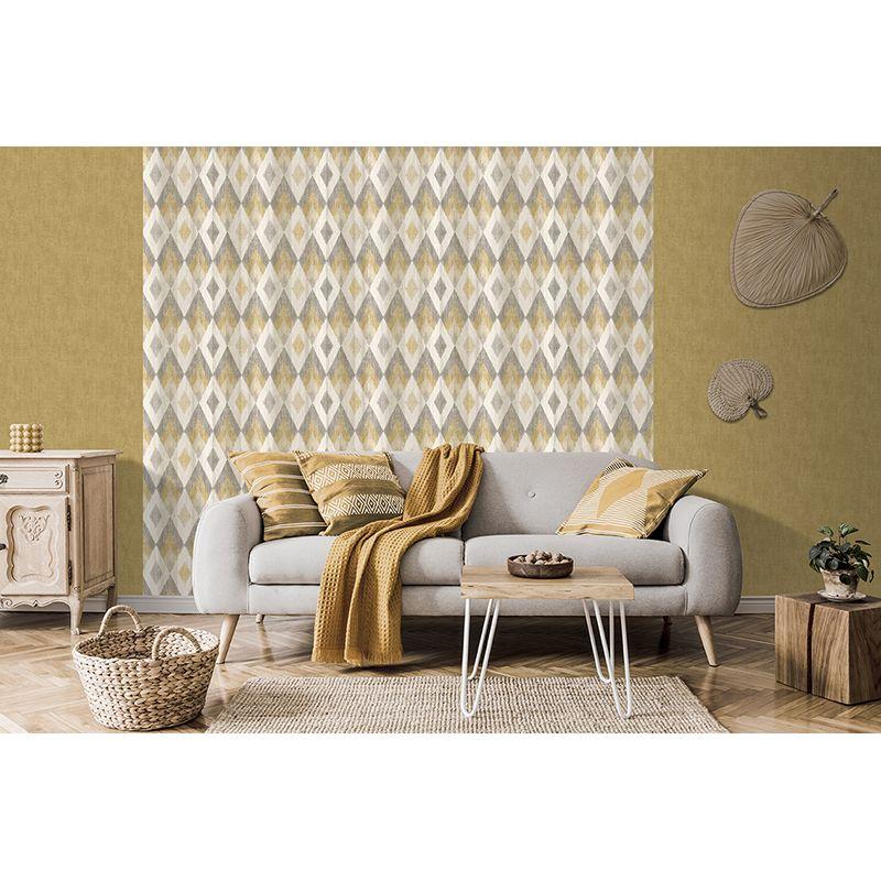 Effet 3D motifs géométriques losange Papier Peint Bleu Sarcelle Blanc Vinyle Coller mur comme création