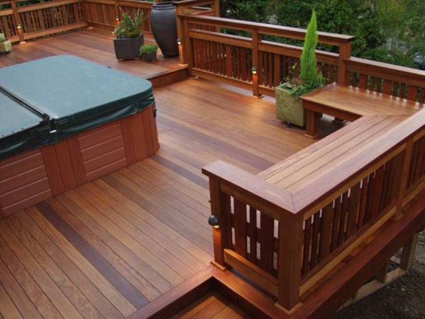 Landscaping And Outdoor Building , Built In Seating Deck ...